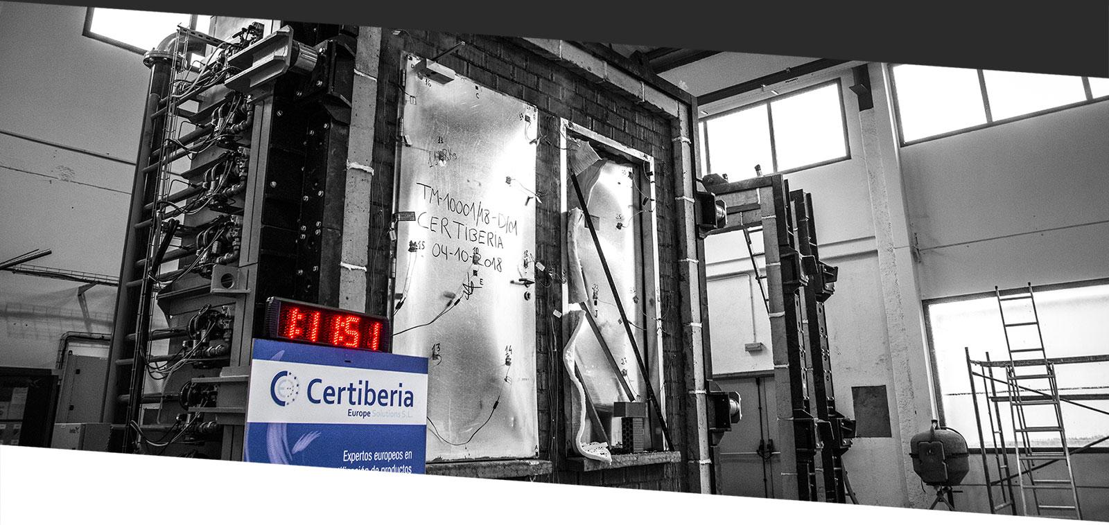 Ensayos de Resistencia al fuego en el laboratorio de Madrid